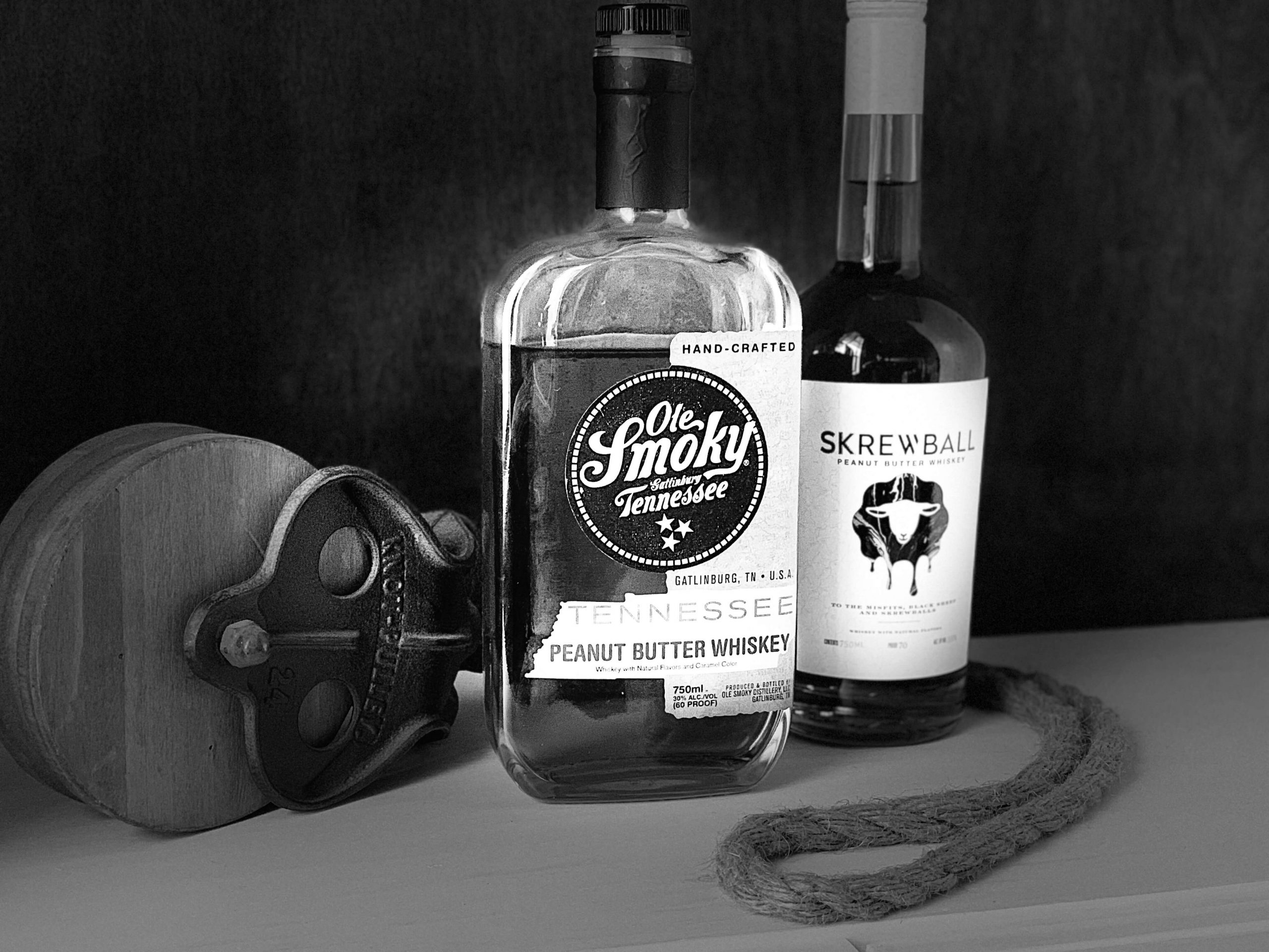 Ole Smoky Peanut butter whiskey and Skrewball peanut butter whiskey
