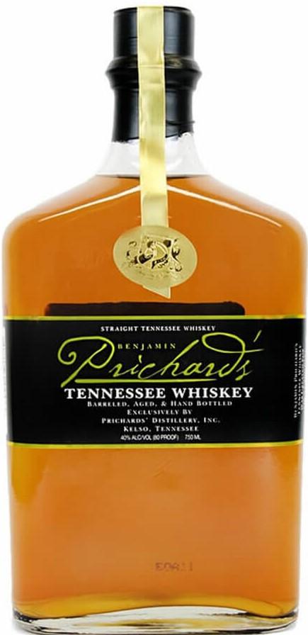 Benjamin Prichard's Tennessee Whiskey bottle