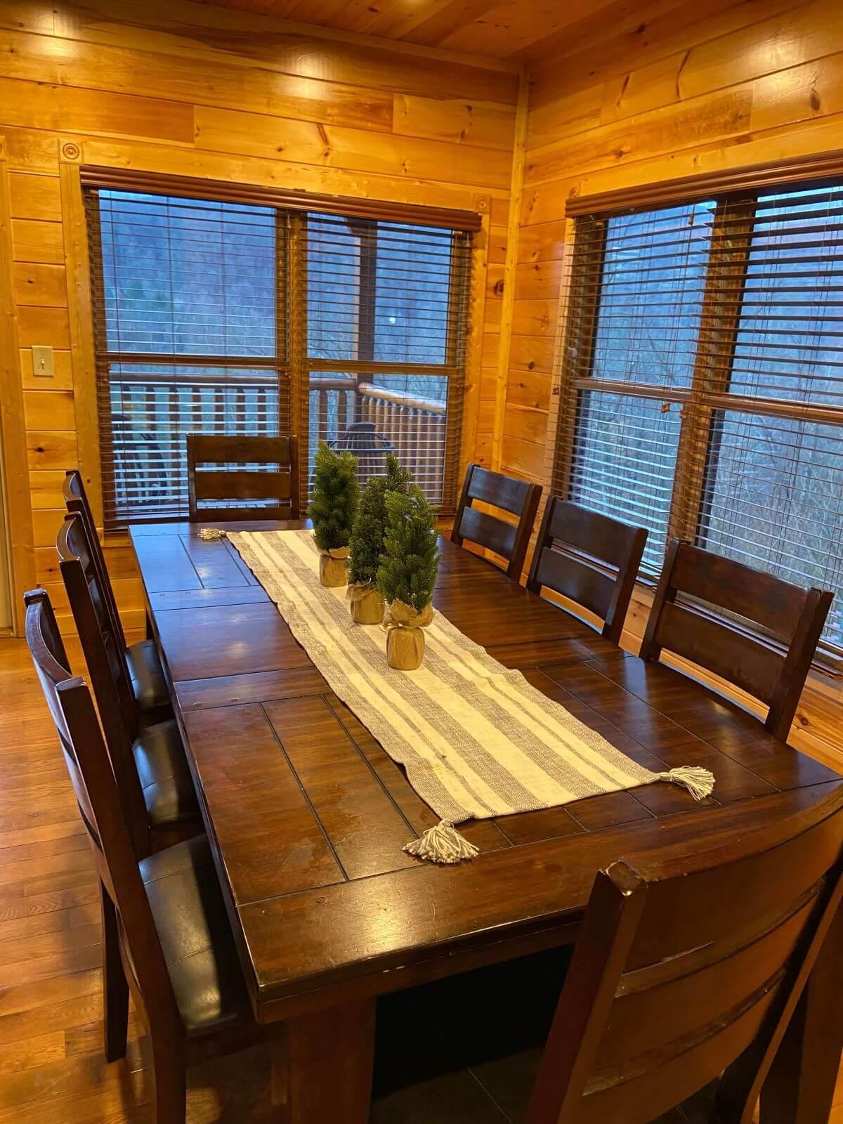 Cypress Lodge Dining Room seats 8