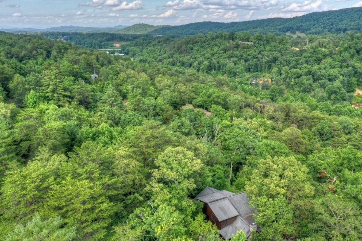 Overhead view of Choctaw Mtn Lodge