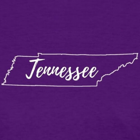 outline of the state of tennessee with the words tennessee written across it